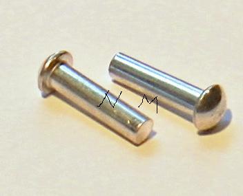 20 Ribattini Testa Tonda Alluminio 6x20mm DIN660 rivets remaches Nieten